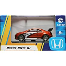 1:87 / HO SCALE HONDA CIVIC SI (BROWN) Hot Wheels Vehicle & Acrylic Display Case