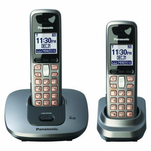(Panasonic Dect 6.0 Expandable Digital Cordless Phone with 2 Handsets (KX-TG6412M))