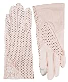 Women's Outdoor Uv Protection Cotton Anti-skid Driving Gloves,Pink