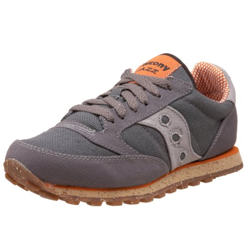 Saucony Originals Women's Jazz Low Pro Vegan Sneaker,Charcoal/Orange,8.5 M US