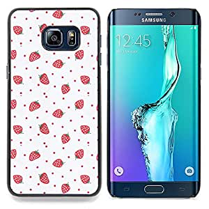 Stuss Case / Funda Carcasa protectora - Arte Fresas Rosa Rojo Wallpaper - Samsung Galaxy S6 Edge Plus / S6 Edge+ G928
