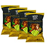 Wicked Crisps, Roasted Garlic and Asiago Cheese, Deliciously Deceptive Nutrition, Gourmet Broccoli Crisps, No Additives or Preservatives, Gluten Free, Non-GMO, 4oz party-size bag (4 pack)