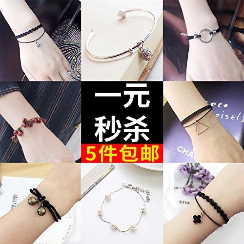 Couple red string bracelet clear novice string bracelet garnet pupils minimalist jewelry bell female to male Korean version of personality