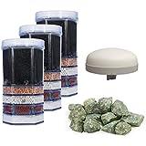 AcalaQuell® Mini Water Filter Cartridge Premium Year Package including: 3 x Premium Cartridge, 1x Primius Acala Bio Ceramic filter, 1x Mineral Stones …
