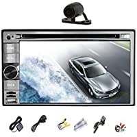 2 Din Car Stereo In Dash Head Unit Deck GPS Navigation Built-in 3D Map Bluetooth Support 3G Wifi android 4.2 OS 6.2 Inch LCD Monitor HD Capacitive Touch Screen Car DVD Player Video Audio USB for iPod/iPhone/iPad AM/FM Radio +Free Back Camera
