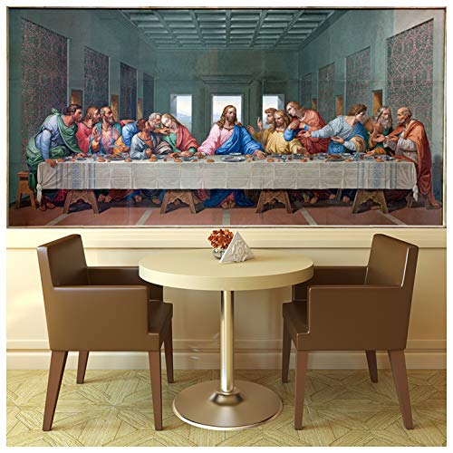 Amazoncom Azutura The Last Supper Wall Mural Jesus Christ Photo