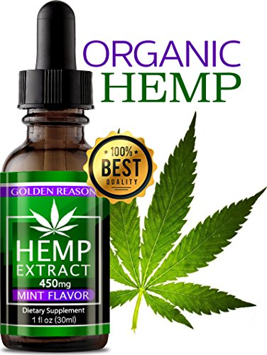 Organic Hemp Oil Anxiety Reducer. Pain Relief. Weight Management .Natural Sleep Aid. Helps Improve Nerve Health & Helps Regulate Metabolism. with Natural Mint Flavor. (450 mg)