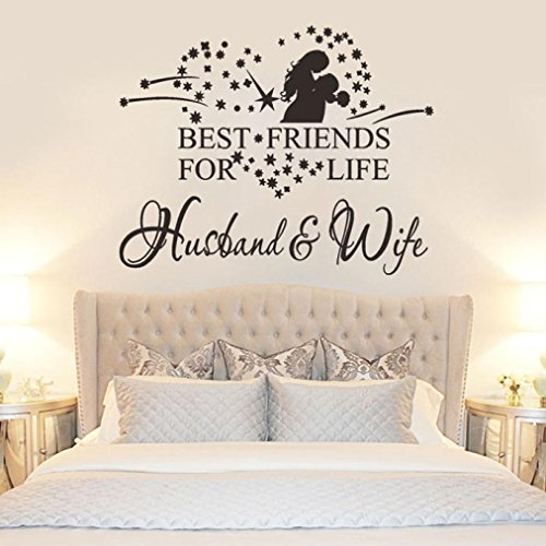 Ussore Husband And Wife Vinyl Decal Bedroom Wall Art Decor