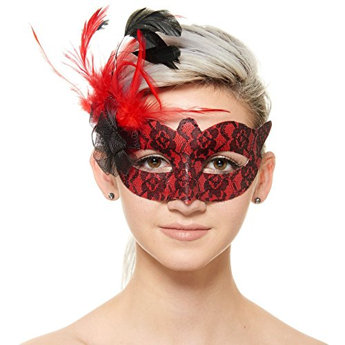 Masquerade Masks Bulk, Venetian Sexy Masquerade Ball Gowns with Feathers - (Mardi Gras Ball Gowns)
