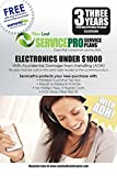 ServicePro 3-Year Service Plan with ADH for Electronics Between $750 - $999.99 (ELA3U1000)