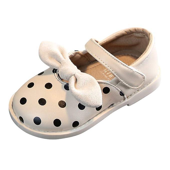 ZORE Zapatos para Niños y Niñas, Zapatos de Princesa, Lazo de ...