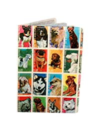 Dog Stamps Travel Passport Holder