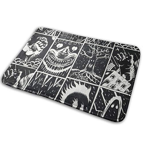 Feim-AO Halloween Animal Skull Horror Cartoon Anti Slip Machine Washable Door Mat Bathroom Kitchen Rug Indoor Outdoor Mats 36(L) X 24(W) -