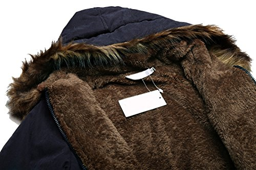 Beyove Womens Military Hooded Warm Winter Faux Fur Lined Parkas Anroaks Long Coats by Beyove (Image #4)