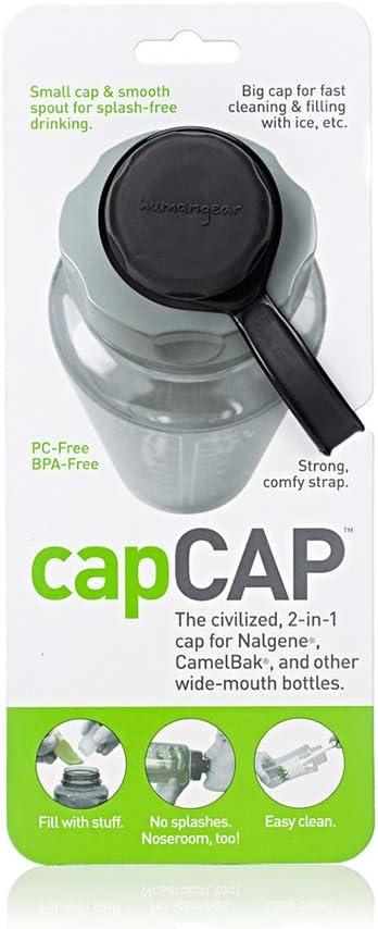 humangear capCAP Flaschendeckel Schwarz//Grau für 5,3 cm Hals