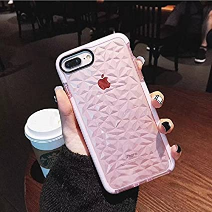 173d3aa888cb1 Keklle iPhone 7 / 8 Case, Ultra Hybrid Case with Air Cushion Technology,  Geometric Clear TPU Drop Protection Cases Cover Compatible for iPhone 7/8 -  ...