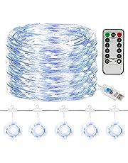 SUNNEST Led-lichtketting, lichtgordijn, 300 leds, USB-gordijnverlichting, lichtsnoer, 8 modi, met afstandsbediening en timer