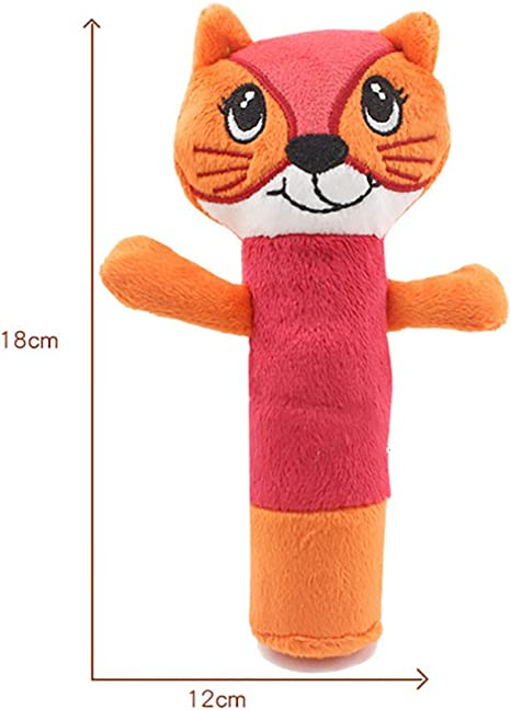 Rattle Animal Stick Soft Hand Bell Baby Hand Grip Rod Toys Educational Doll