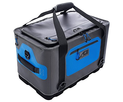 AO Coolers Hybrid Soft/Hard Cooler with High Density Insulation (64 Pack), Blue/Gray