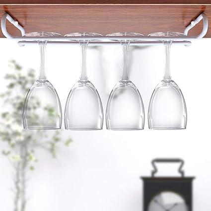 estante para copas de vino soporte para copas de vino estante para colgar debajo del gabinete Abcidubxc Soporte para copas de vino