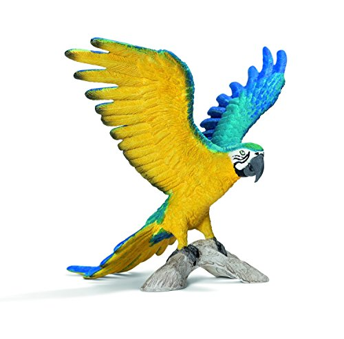 Schleich Blue and Yellow Macaw Toy Figure