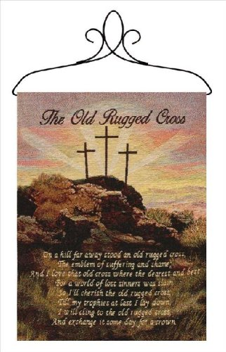Manual Inspirational Collection Wall Hanging with Frame, Old Rugged Cross, 13 X 18-Inch