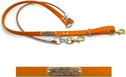 Custom Green Three Dog Coupler  Leash Cable Lead Hog Dog Large Breed Coon Dog