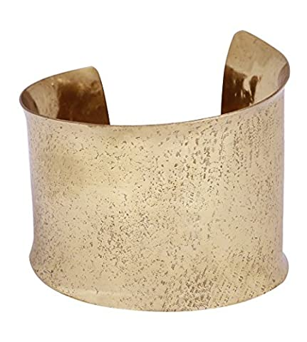 PRIME SALES WEEK - Solid Brass End Cuff Bracelet – Hammered Golden–Tone – Adjustable Bangle - Women Fashion Jewelry & - Brass Cuff Bracelet