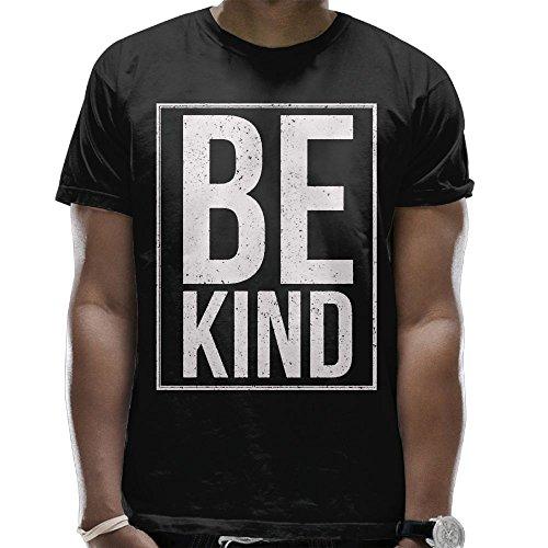 Be Kind - Camisa de Manga Corta con Estampado de Verano, Diseño de Dibujos Animados, Color Negro, Negro, Large