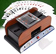 Playing cards shuffler, automatic wooden playing card shuffler Battery operated, low-noise electric card shuff