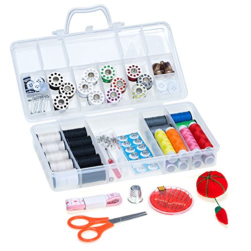 NEX Sewing Threads Kit, with Colors Spools of Thread & Multiple Sewing Supplies for Adults & Kids DIY, Handicraft Class, Travel, Home ()
