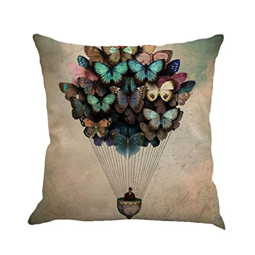 Ninasill 45X45 cm Pillow Case, ღ ღ Christmas Printing Dyeing Sofa Bed Home Decor Pillow Cover Cushion Cover (Beige 6) (B, 45cm45cm) -
