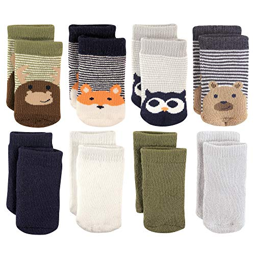 (Luvable Friends Baby Basic Socks, Fox Owl 8Pk, 6-12 Months)