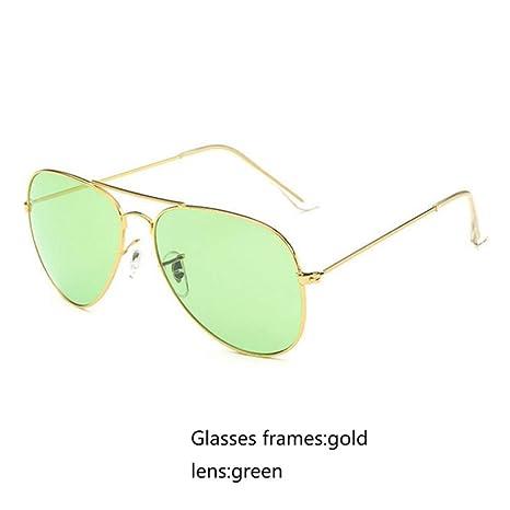 Yangjing-hl Gafas de Sol de aviación Mujeres Hombres ...