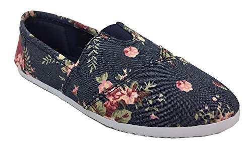 AimTrend Womens Canvas Slip Sneaker