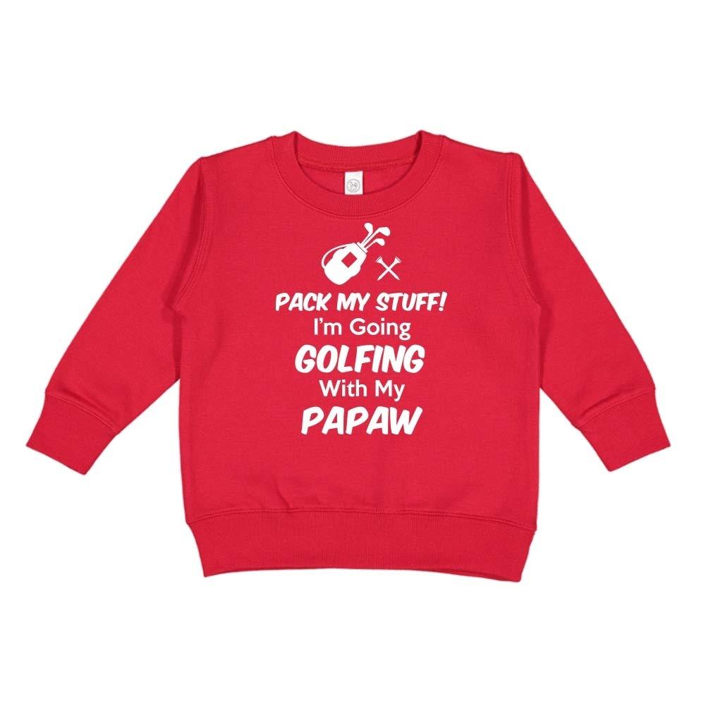 Im Going Golfing with My Papaw Pack My Stuff Toddler//Kids Sweatshirt