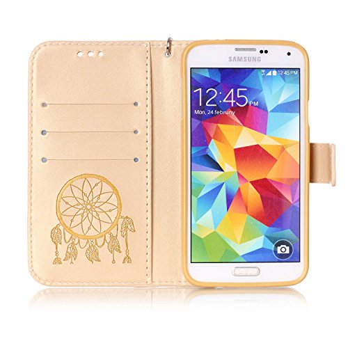 Shell De móvil PC Samsung marrón smartphone 5 Carcasa Galaxy 9 nbsp;Mini Funda Carcasa Polvo de S5 cubierta nbsp;pulgadas 4 13 silicona para Painted teléfono Cover de Conector PU Caso Piel Case PZwqIYI