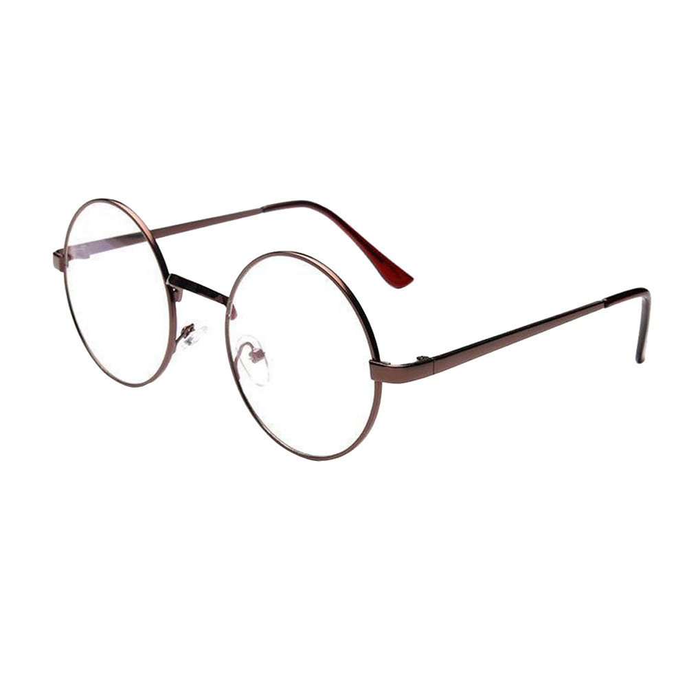 Best seller FarJing Fashion Unisex Classic Metal Frame Mirror Rounded Glasses Silver