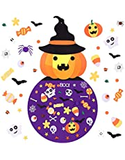 Joyhoop DIY Felt with Ornaments,DIY Felt Crafts Witch Set Wall Hanging Decoration with 49Pcs Detachable Ornaments for Toddler Gifts Party Favor Supplies