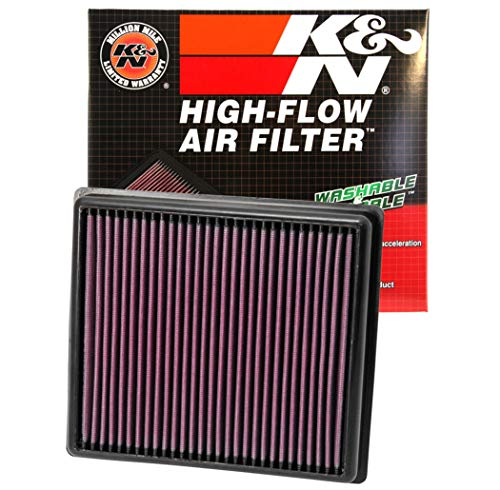 K&N engine air filter, washable and reusable:  2011-2019 BMW (114d, 116d, 116i, 118d, 118i, 120d, 125d, 218d, 218i and more select models) 33-2990