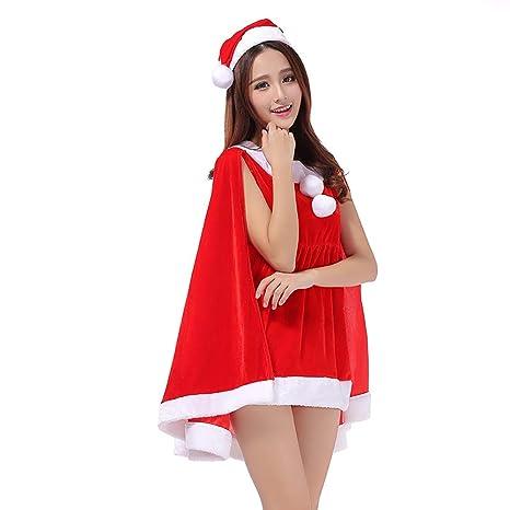 SELUXU Conjunto de Traje de Navidad para Mujer Capa de ...