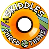 Sector 9 Skiddles Orange Longboard Wheels - 70mm 78a (Set of 4)