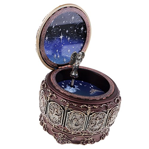 Baosity Resin Aquarius Constellation ''Castle in the Sky''Musial Box Birthday Gift show, Capricorn