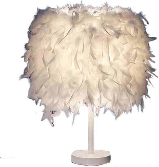 luminaire plume,lampe de chevet, chambre vintage chambre