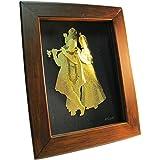 Radha Krishna 24k Gold Foil Frame