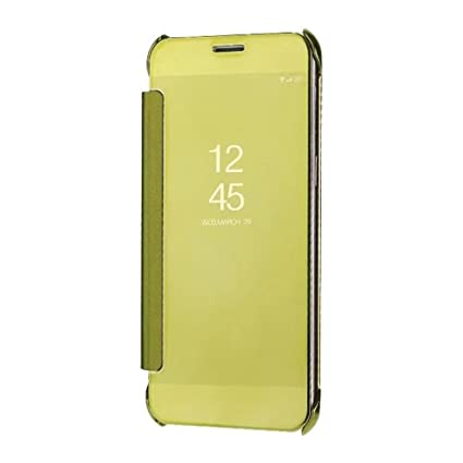 huge discount 156ba dcf7a Sajni Creations Samsung A8 Plus Flip Cover , clear view mirror flip smart  cover case for Samsung Galaxy A8 Plus (2018) (gold)