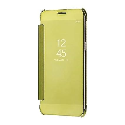 huge discount d6219 37da4 Sajni Creations Samsung A8 Plus Flip Cover , clear view mirror flip smart  cover case for Samsung Galaxy A8 Plus (2018) (gold)