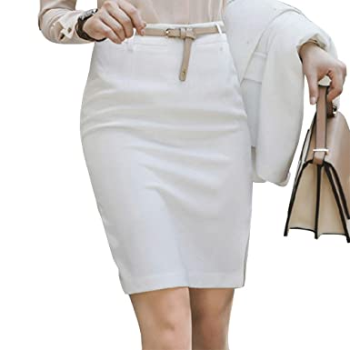 e83bc5a7fbea Image Unavailable. Image not available for. Color: EVEDESIGN Women's Side  Slit Midi Skirt ...