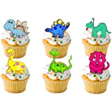 24 x Baby Dinosaur Cartoon STAND UP STANDUPS Fairy Muffin Cup Cake Toppers Decoration Edible Rice Wafer Paper