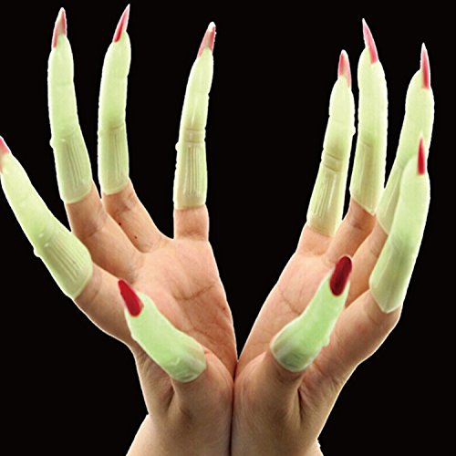 Witch Fingers, Fake Nails Halloween Witch Vampire Finger & Vampire Teeth